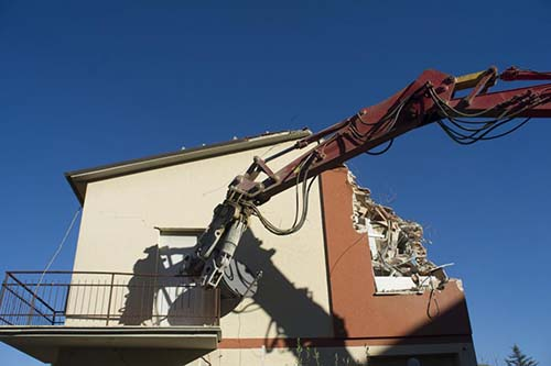 demolishing of the building